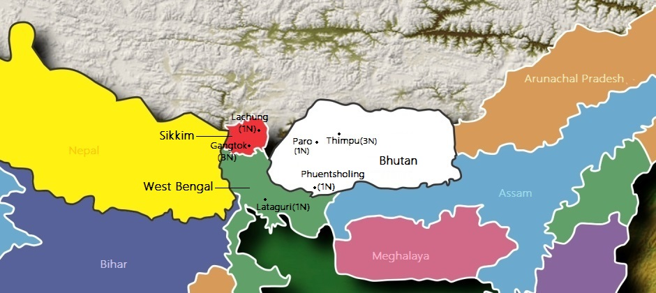 Bhutan with Sikkim